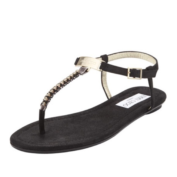 fb6a1c5d1571 Jimmy Choo Shoes - Jimmy Choo Nox Flat Crystal Sandal 38.5